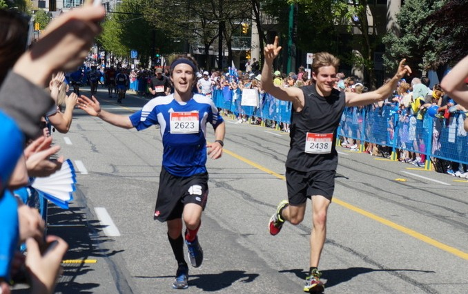 Connor Meakin's first marathon