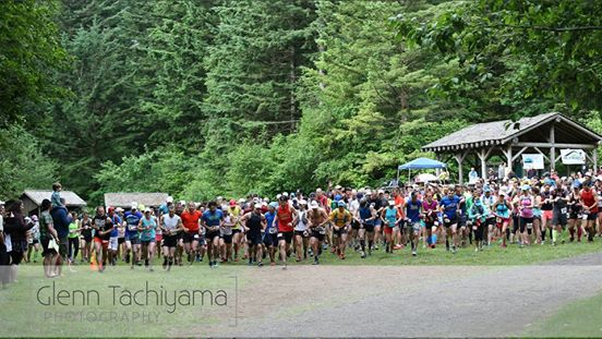 Beacon Rock 50k start line